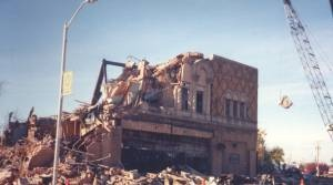 Razing of the Avalon Theatre  late 1990's