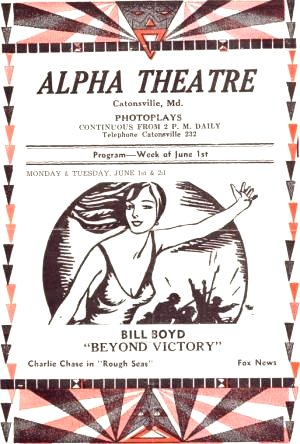 Alpha Theatre                         Catonsville Baltimore