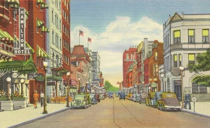 Hagerstown Maryland , Washington Street , 1940's