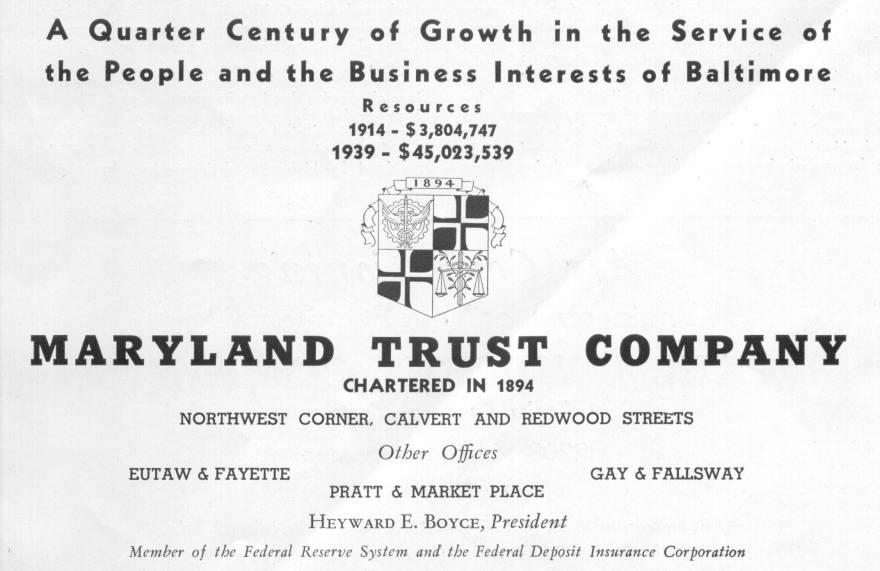 Maryland Trust Ad Baltimore
