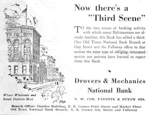 Drovers & Mechanics Bank Baltimore Bank Maryland