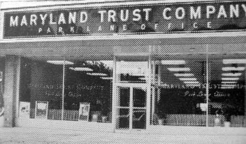 Maryland Trust Company ParkLane Branch Baltimore