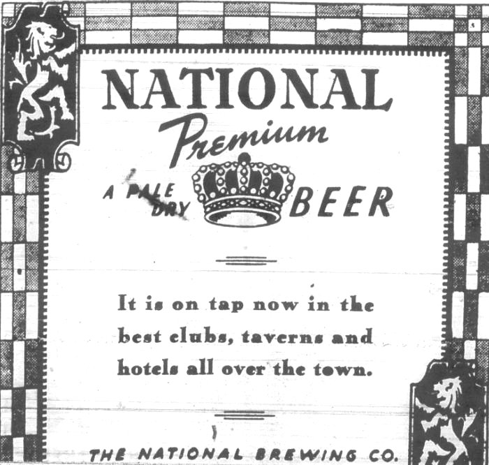 National Premuim Beer Baltimore