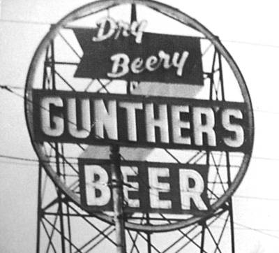Dry                 Beery Gunther Beer Sign Baltimore