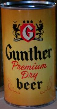 Gunthers Premium Dry Beer Baltimore