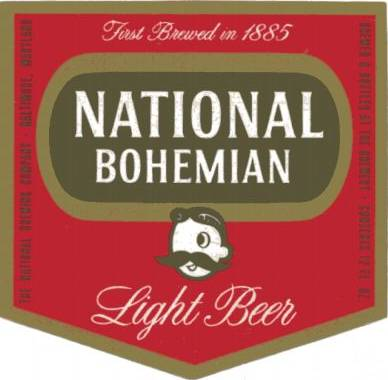 National Boh Light Beer Label Baltimore