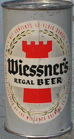 Wiessner Regal Beer can, Baltimore