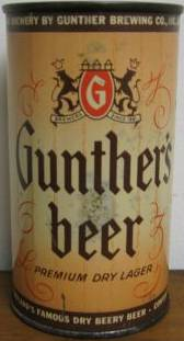 Gunther                 beer Baltimore can
