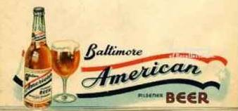 Anerican Beer ad Baltimore