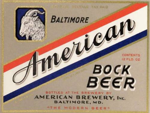 American beer label Baltimore