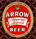 Arrow Beer Label , Baltimore Maryland