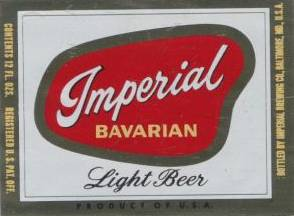 Imperial                 beer Baltimore label