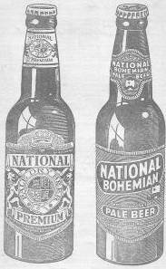 National Prenium National Bohemian Beer Baltimore