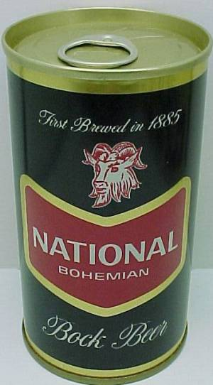 National Boh Bock beer can Baltimore