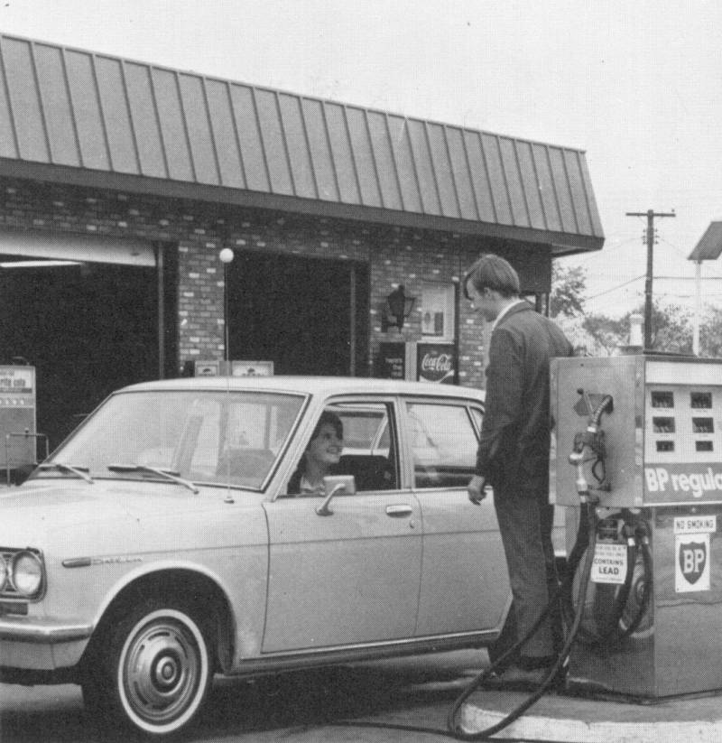 Ferndale Gas Station Maryland 1970d