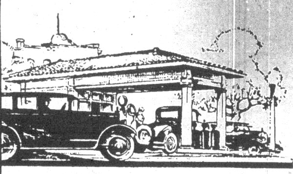 Old Gas Station Drawing Old Baltimore g...