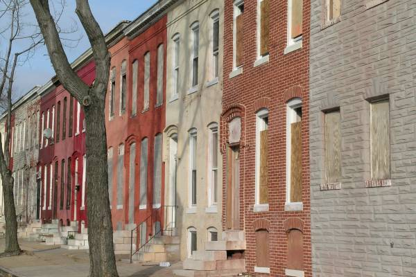 East Baltimore rowhomes await Demolition