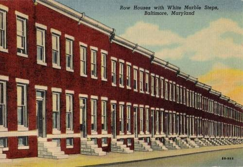 Row Houses In Baltimore Md : Why have the quality of buildings declined over years