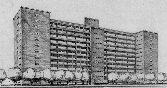 1950's plans for Projects Baltimore