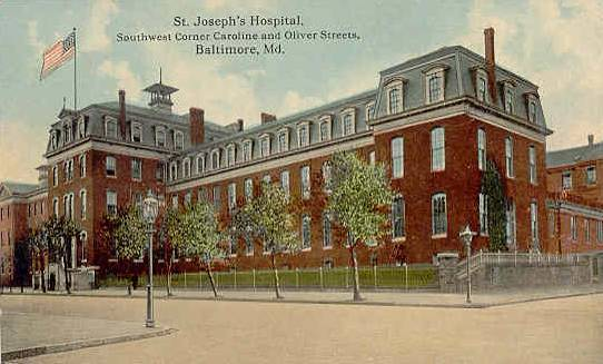 St. Joseph's Hospital, Baltimore North Caroline Street