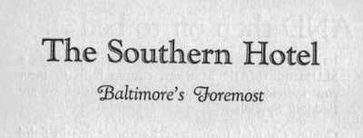 Southern Hotel Baltimore