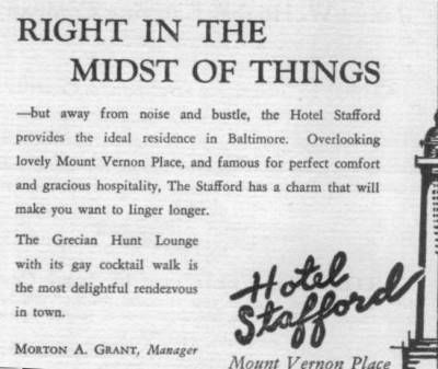 Stafford Hotel Baltimore