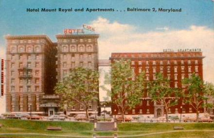 Mount Royal Hotel, Baltimore