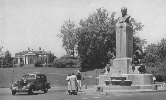 Hopkins Monument late 1930's Baltimore