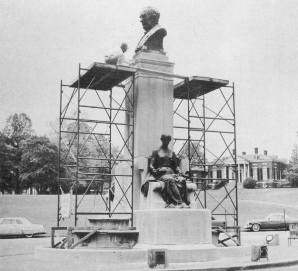 Baltimore's Hopkins Monument 1955