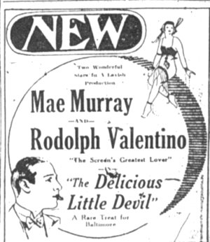 New Theatre Baltimore ad circa 1920