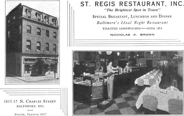 St Regis Restaurant , Baltimore