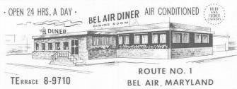 Belair Diner,               Belair Maryland US Rt 1