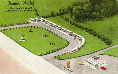 Trailer               Motel Conowingo Maryland U.S.Rt 1