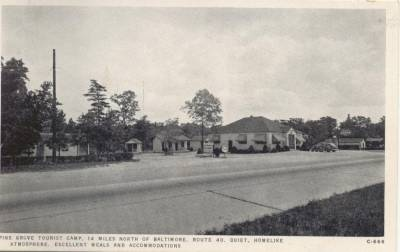 Pine Grove Tourist Camp Bradshaw Maryland Pulaski                   Highway US 40