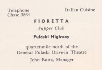 Fioretta               Supper Club Ad
