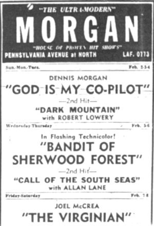 Morgan Theatre Ad Baltimore