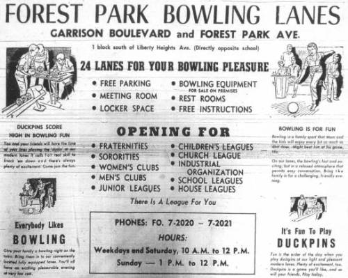 Forest Park Bowling Lanes