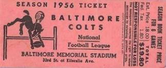 Colts Ticket 1956