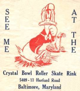 Crystal Roller rink Baltimore ad