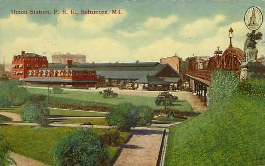Baltimore's Union Station 1900's