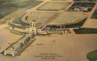 aerial               view Friendship Airport Baltimore