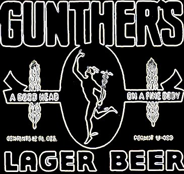 Gunthers                 beer Baltimore
