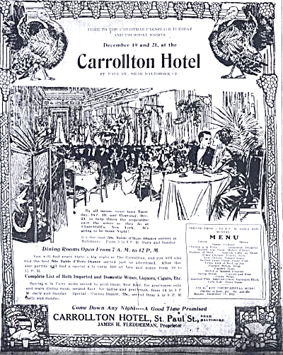 Carrollton Hotel, Baltimore