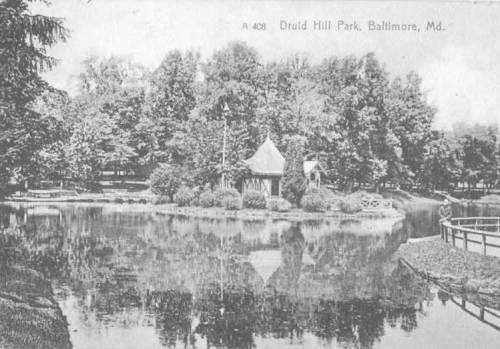 Druid hill Boat Lake baltimore