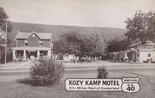 Kozy Kamp Motel Cumberland Maryland Rt 40