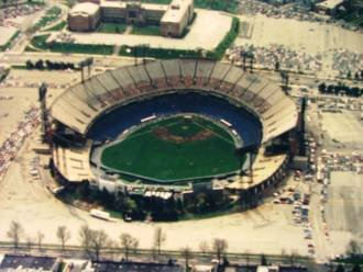 Aerial view Baltimore Memorial Stadium