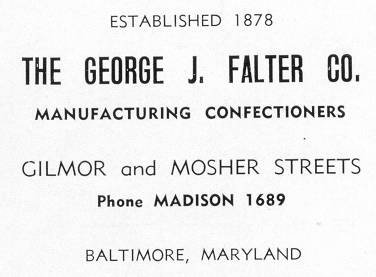 Falter                   Candy Company Baltimore