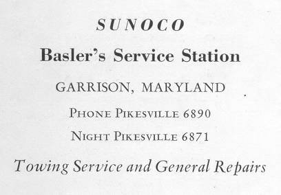 Gas               Station ad 1954