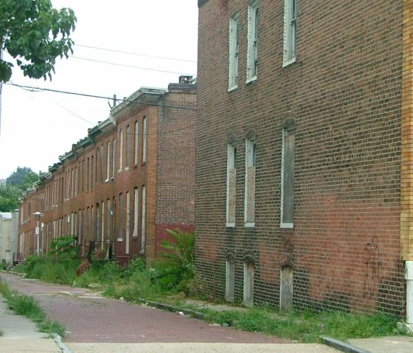 Alley houses Rowhomes in Baltimore Maryland 1005